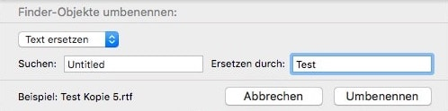 Finder Mac Dateien umbenennen 1