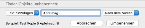Finder Mac Dateien umbenennen 2