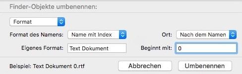 Finder Mac Dateien umbenennen 3
