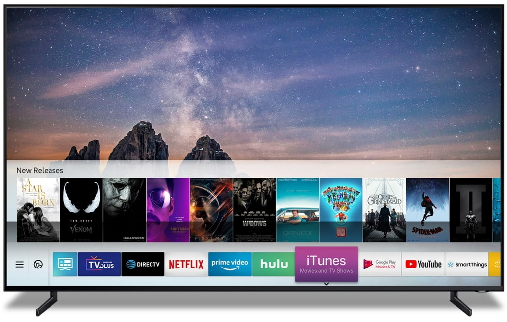 Apple und Samsung Smart TV Menue