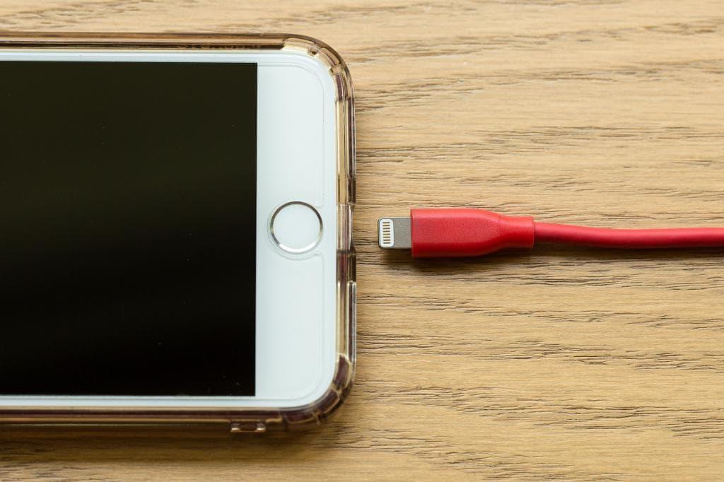 iPhone Kabel abgesteckt