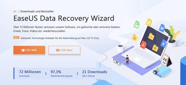Datenrettung mit dem EaseUS Data Recovery Wizard